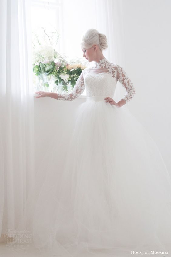 House of mooshki 2016 wedding dresses vintage inspired for Grace kelly inspired wedding dress