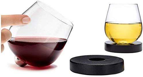 Amazon Com Aura Glass 14oz Stemless Aerating Wine Glasses Set Of 2 No Spill Spinning Glass Tumblers For Aerating Wine Glasses Wine Glasses Glass Tumbler