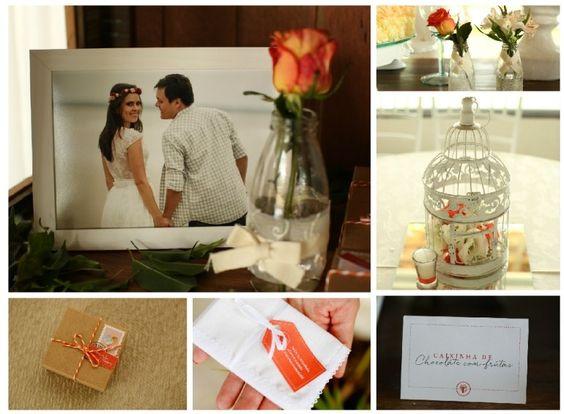 Casamento | Wedding | Detalhes do casamento | Detalhes da decoração | Decor | Decoração de casamento | Cute wedding | Decoração laranja | Inesquecível Casamento