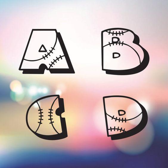 Baseball Alphabet Letters