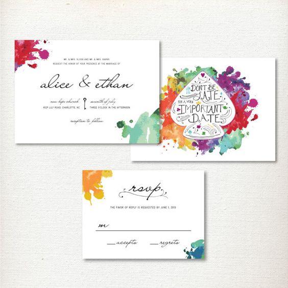 Alice In Wonderland Wedding Invitation Printing Service On Etsy 58 75