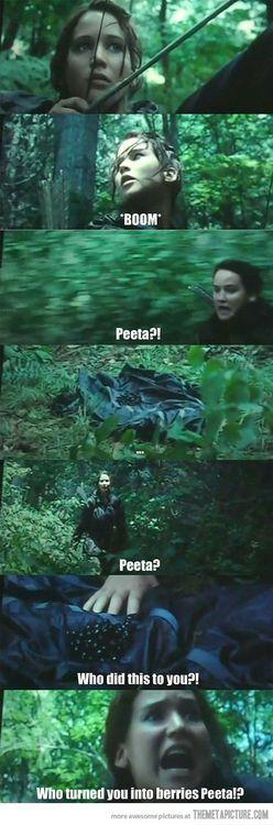 funny Katniss Peeta Hunger Games on imgfave