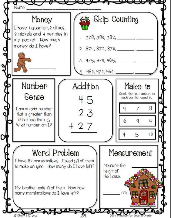common core math and language arts daily practice for second grade december pinterest. Black Bedroom Furniture Sets. Home Design Ideas