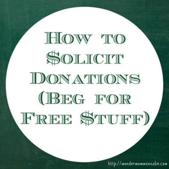 Tips for how to successfully solicit donations for nonprofit organizations and events.