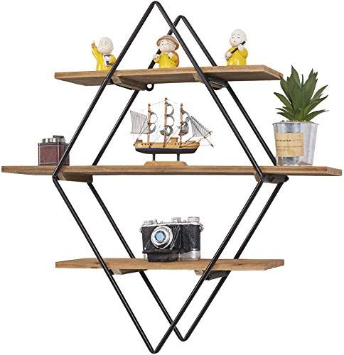 The Ritesune Floating Shelves Wall Mounted Dark Brown Wood Wall Storage Shelves Bedroom Living Room Bathroom Kitchen Office 24 Inch Online Shopping In 2020 Wall Storage Wall Storage Shelves Floating Shelves