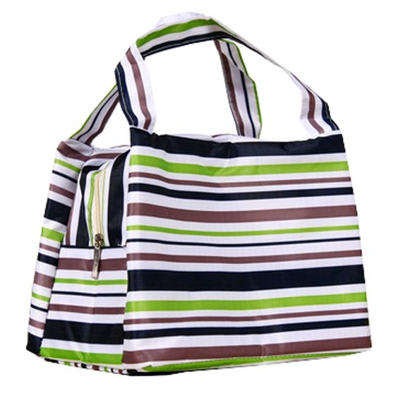 Durable Reusable Lunch Bag Lunch Box Holder Lunch Tote Bag Green
