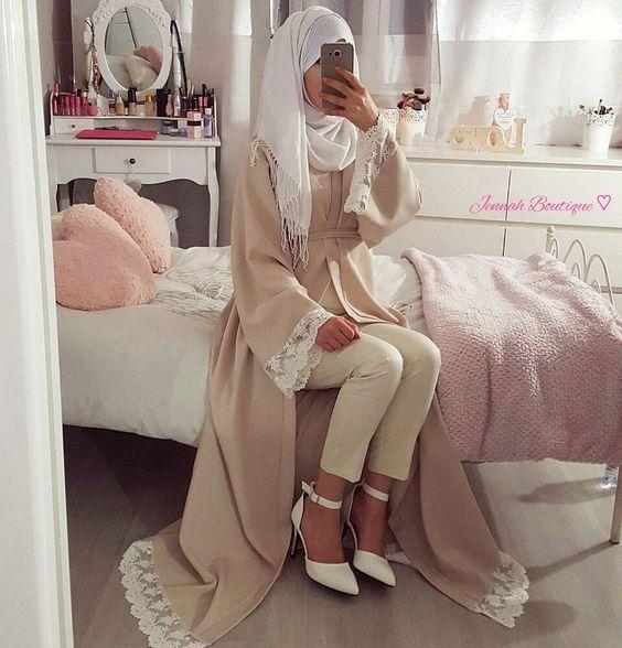 Abaya Kimono EL AMIRA ♡ via Jennah Boutique. Click on the image to see more!:
