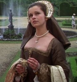 """Anne Boleyn (Genevieve Bujold) at court. """"Power is as intoxicating as love."""" Anne Of The Thousand Days"""