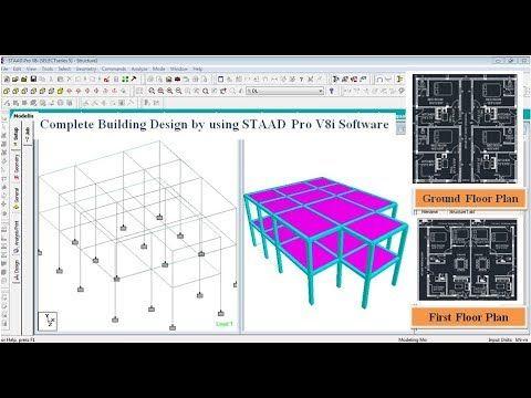 Building Design G 1 In Staad Pro V8i Software Youtube Building Design Civil Engineering Software Software