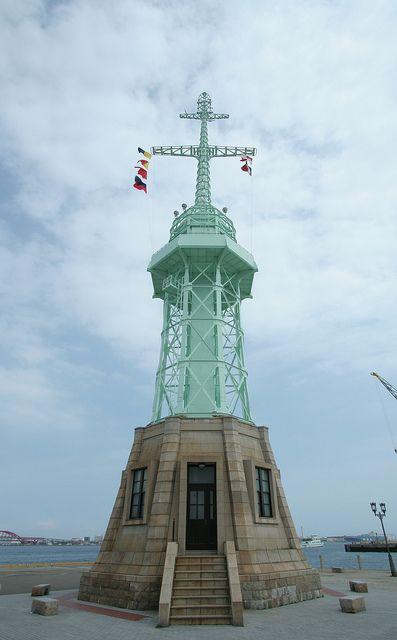 Kobe Harbour Lighthouse, Japan, by lets.book, via Flickr