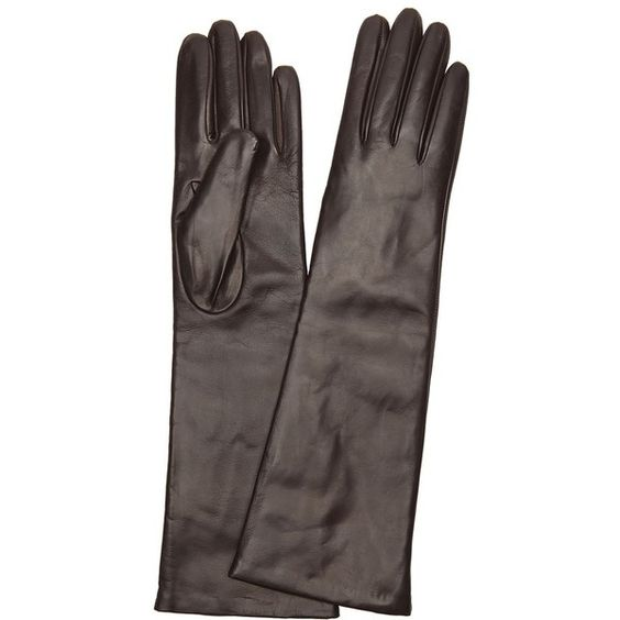 Portolano Brown Cashmere Lined Leather Gloves (360126702) (460 BRL) ❤ liked on Polyvore featuring accessories, gloves, brown, leather gloves, brown leather gloves, long brown gloves, brown gloves and portolano gloves
