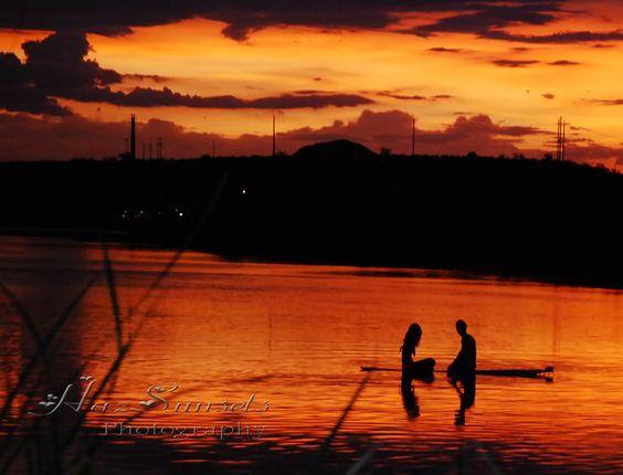 Sunset couple on the Salt River