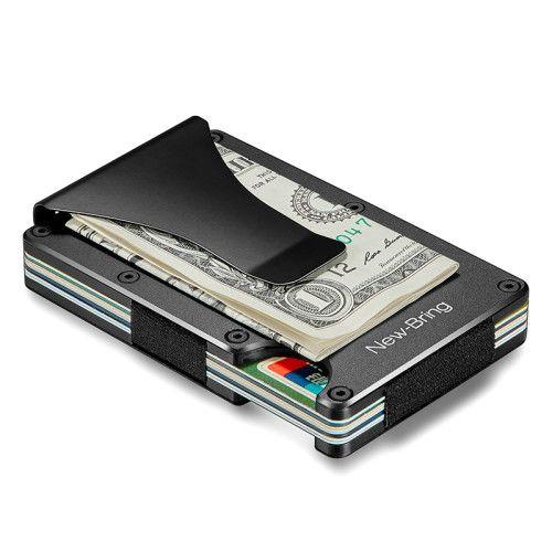 Metal Slim Wallet Money Alloy ID Credit Card Money Holder Men Gift Blocking RFID