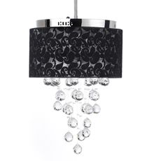 Gallery Crystal Raindrop 6-Light Chandelier with Shade