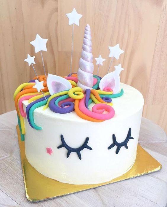 Diy Unicorn Rainbow Party With Images Unicorn Birthday Cake