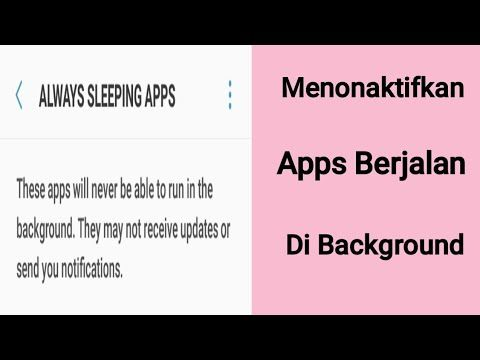 How To Inactive Apps Running In Tje Background On Samsung Android Youtube Aplikasi Samsung Latar Belakang