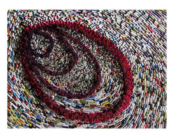 Wandbild Collage 30x40 cm Recycling Kunst auf von fantasmaniaxx