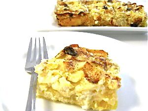 A Super Delicious Skinny Passover Noodle Kugel-This deliciously sweet and creamy noodle casserole is a traditional Jewish dish.It's great for brunch, lunch or a side for dinner. This skinny Passover kugel has 204 calories, 1 gram of fat, and 5 Weight Watchers POINTS.