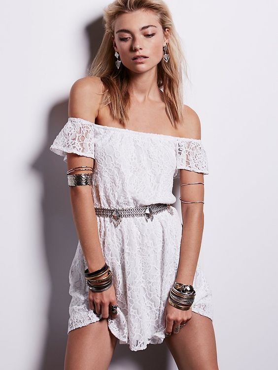 Free People Maya Off Shoulder Mini, $98.00