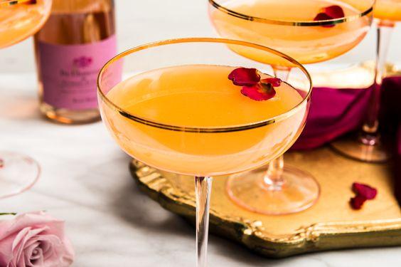 Peach Nectar Cocktails - valentine's day cocktails