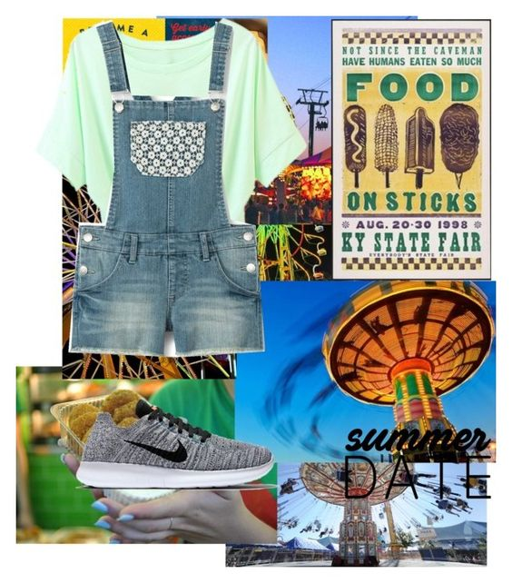 """State fair"" by sorryitsme ❤ liked on Polyvore featuring NIKE, statefair and summerdate"