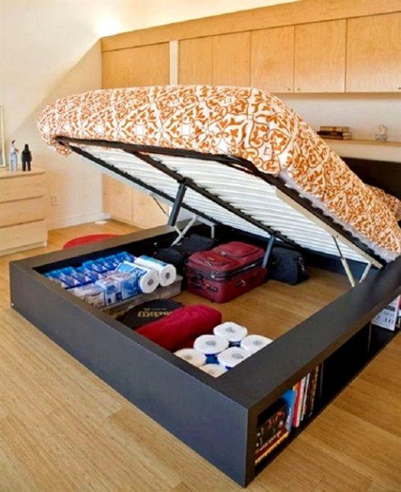 Elegant Queen Size Platform Bed With Storage Underneath The Mattress Queensizebed Bedroo Bed Frame With Storage Small Space Bedroom Platform Bed With Storage