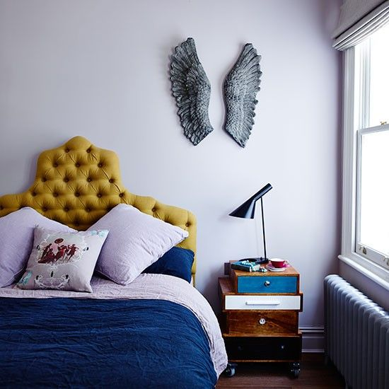 I just love this mustard and blue, nice!