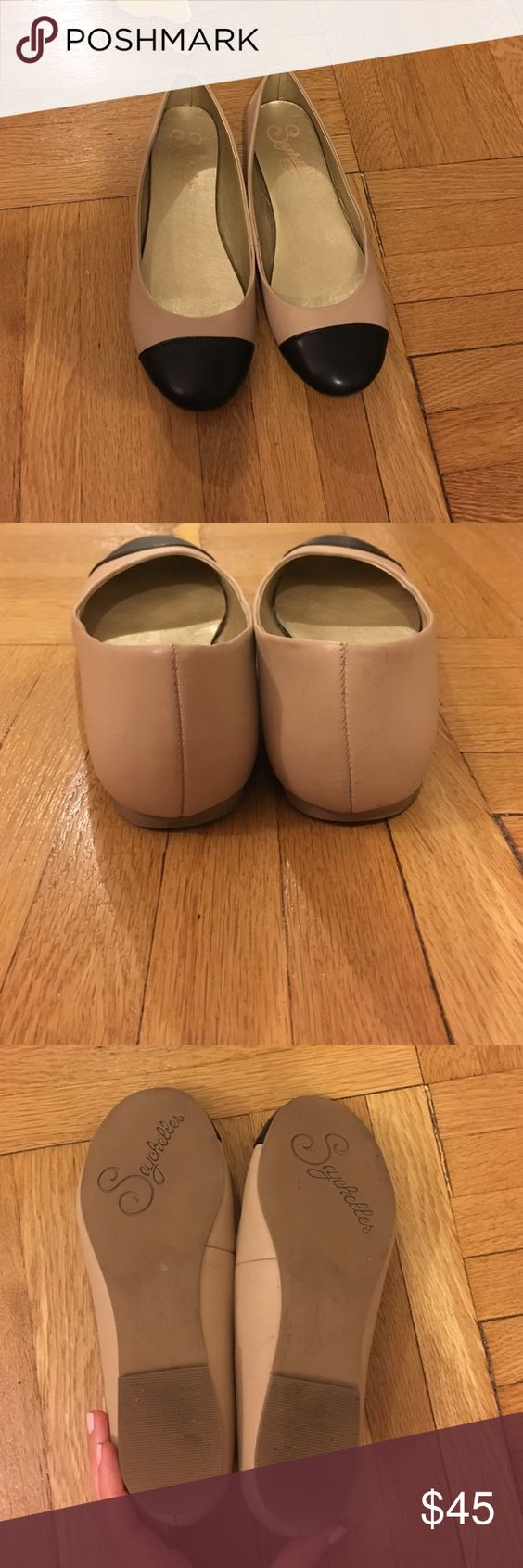 Seychelles flats Beautiful Seychelles flats with black toe accent. Worn 2-3 times, in great condition! Seychelles Shoes Flats & Loafers