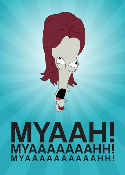 Roger Smith from American Dad Graphic illustration Myaaahh! Twin Tipped Designs