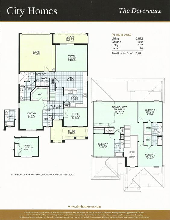 Windermere Terrace City Homes Devereaux Floor Plan in Windermere FL