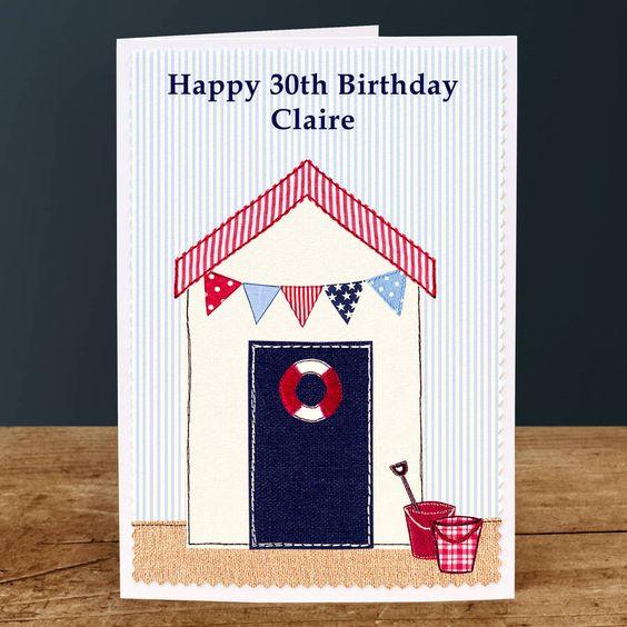 Personalised Birthday Card 'Beach'