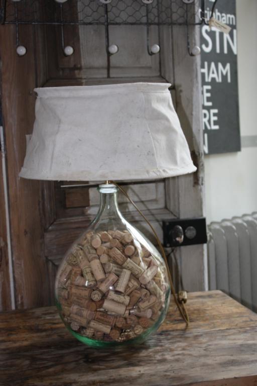 Meuble relook lampe dame jeanne lampes de chevet de salon industriel et - Lampe de chevet industriel ...