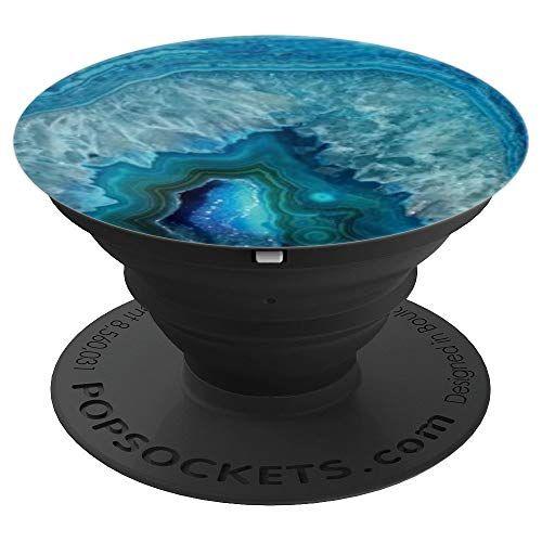 Crystal Agate Geode Blue Swirl Grip Popsockets Grip And Https Www Amazon Com Dp B07hskgrp2 Ref Cm Sw R Pi D Popsockets Pop Sockets Iphone Diy Pop Socket