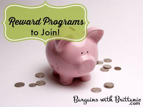 Reward Programs to Join! Bargains with Brittanie