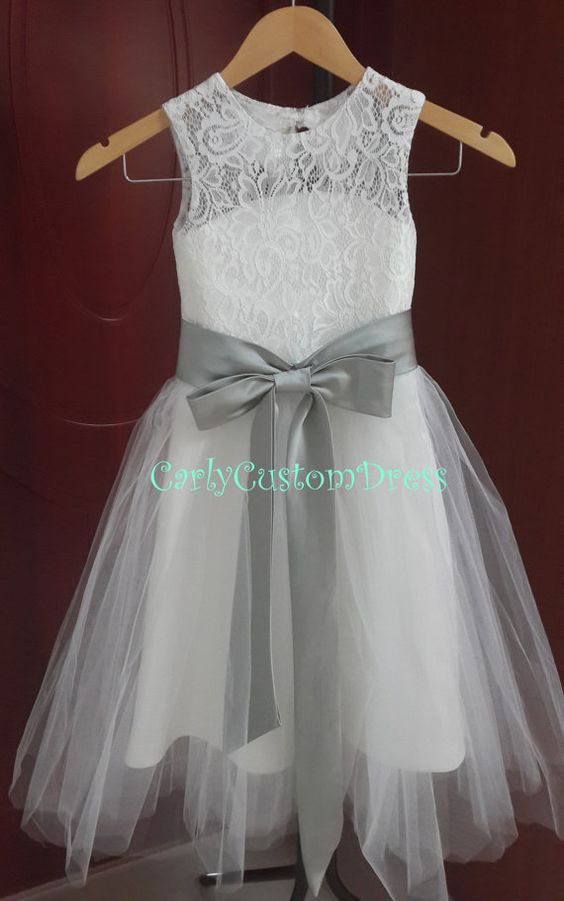 flower girl dress lace - photo #48