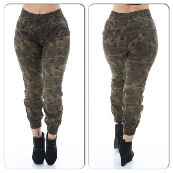 women plus size camouflage army green pant jogger 3xl #unbranded