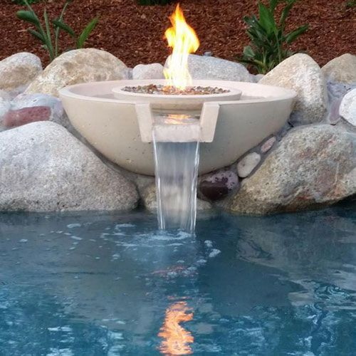 118 Best Pool Wok Pot Fire Water Scupper Images On Pinterest Fire And Water Bowls For Pools Pool Water Features Concrete Pool Pool