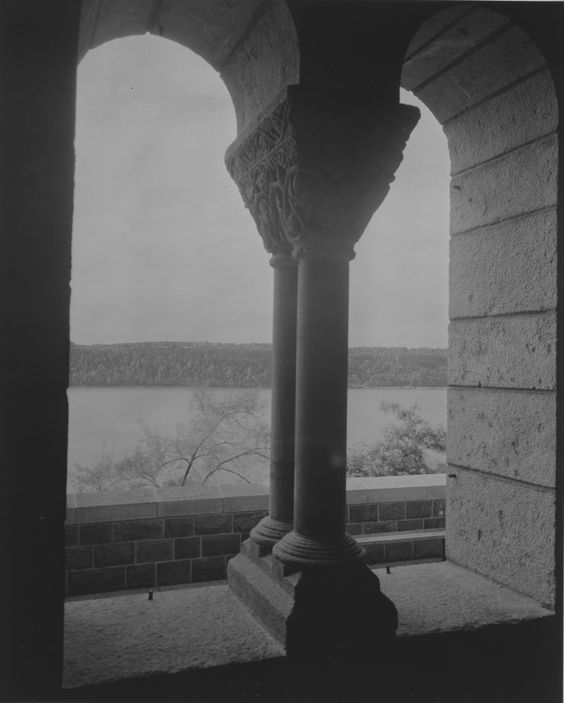 The Metropolitan Museum of Art, The Cloisters: St. Guilhem Cloister; View looking from arcade toward west. Photographed on October 5, 1939.