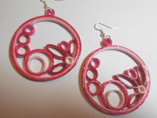 Pink Red and White Circles - $22.00