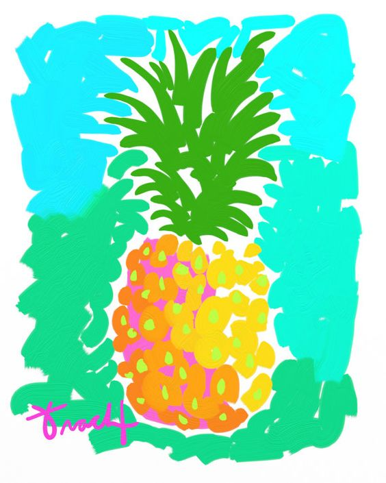16x20 pineapple art print by kelly tracht beach house art tropical pineapple painting. Black Bedroom Furniture Sets. Home Design Ideas
