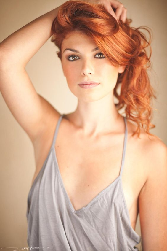 Beauty Redhead Without Intimidation Linda Make Smooth