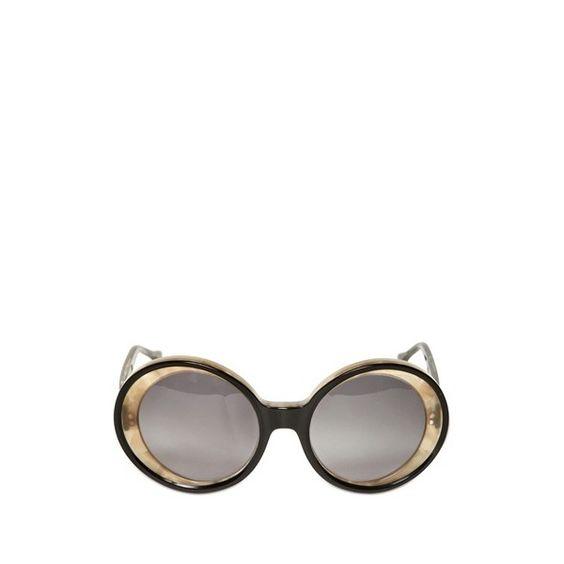 Marni Round Acetate Sunglasses ($180) ❤ liked on Polyvore