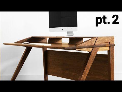 Mid Century Modern Desk Part 2 The Top Structure Youtube Mid Century Modern Desk Mid Century Desk Modern Desk
