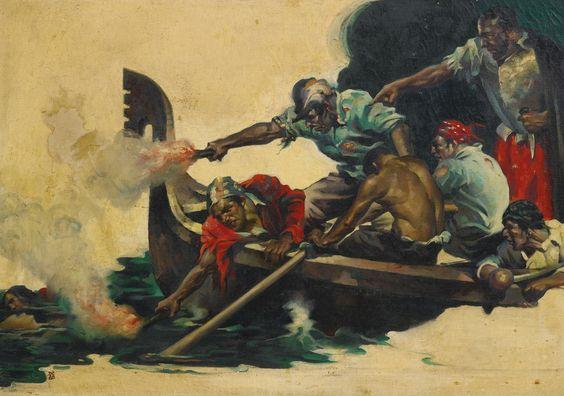 cornwell, dean study of pirates | battle | sotheby's n09484lot8z2tren:
