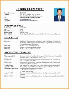 Cv Template Job Application Resume Format Job Resume Format Best Resume Format Cv Resume Sample