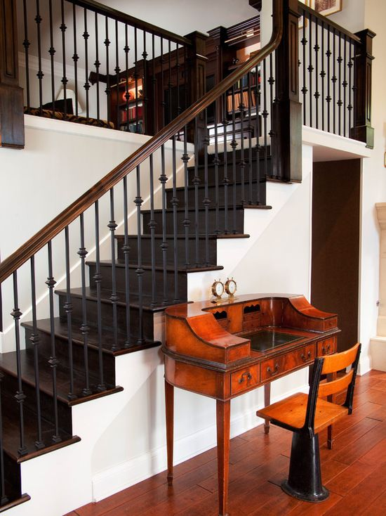 Stairs, Victorian Staircase With Fascinating Wrought Iron Handrails For Exterior Stairs: The Sturdy But Fancy Looking Wrought Iron Handrails For Exterior Stairs