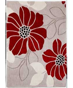 Living Jessica Acrylic Rug 120x170cm Cream And Red At