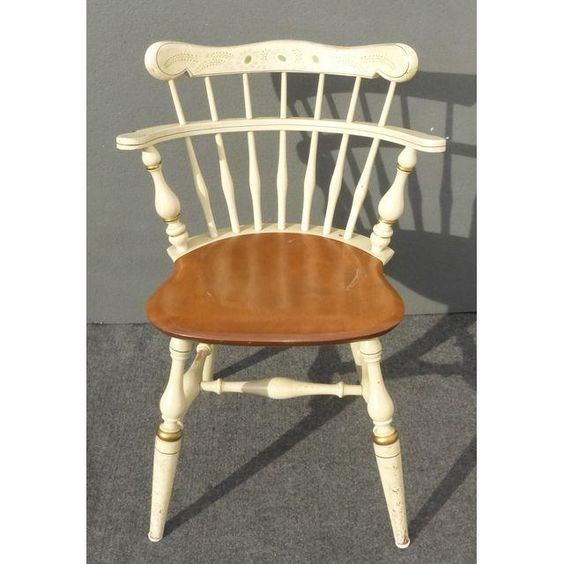 Image of Ethan Allen Comb Back Chairs - Set of 4