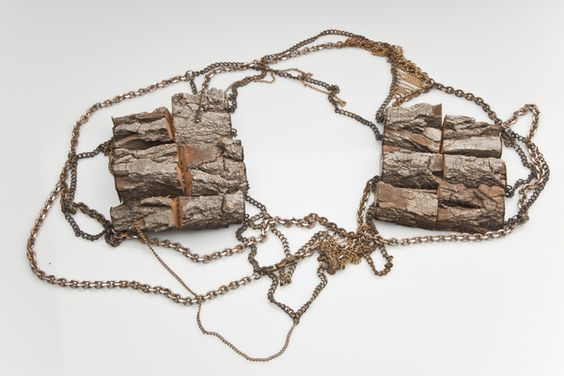 """""""Traces"""" by Kate Furman. Wood, chain, 2012. (via Behance). MFA Thesis exhibition, RISD."""