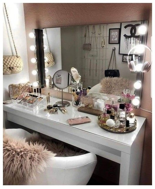 27 Diy Simple Makeup Room Ideas Organizer Storage And Decorating 00048 Pointsave Net Stylish Bedroom Room Inspiration Glam Room